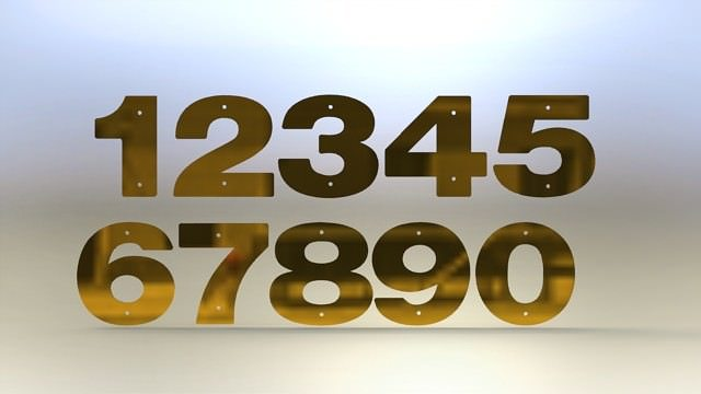 3d model brass numbers asm