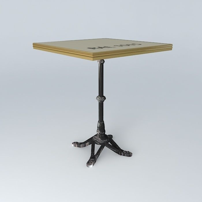 table bistro table square ardamez company 3d | cgtrader