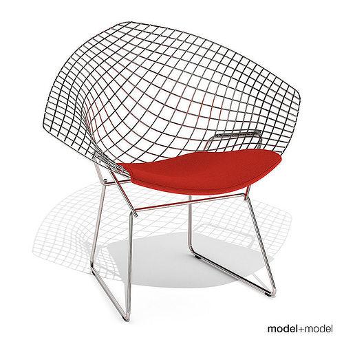 Attirant ... Knoll Bertoia Diamond Chair 3d Model Max Obj 3ds Fbx Dxf Mat 2 ...