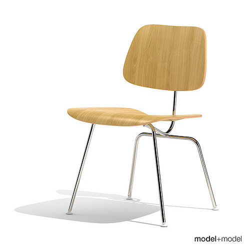 eames dcm dining chair metal 3d model