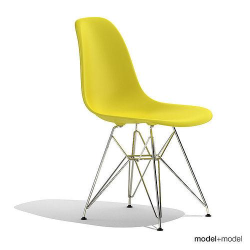 eames plastic side chair dsr 3d cgtrader. Black Bedroom Furniture Sets. Home Design Ideas