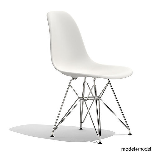 Eames Plastic Side Chair Dsr Model Max Obj Mtl S Fbx Dxf Mat 2