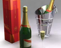 champagne set 3d model c4d