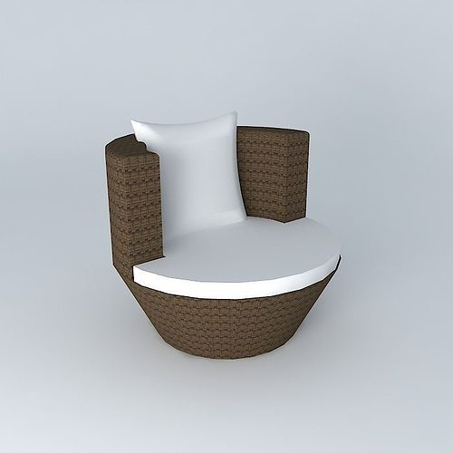Round Armchair BALI Houses The World 3D Model