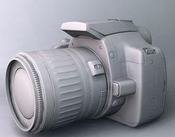 canon eos 350d rebel xt 3d model 3ds fbx c4d flt