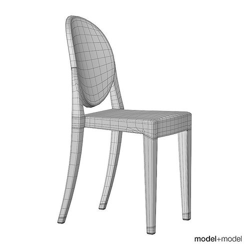 3D model Kartell Victoria Ghost chair | CGTrader