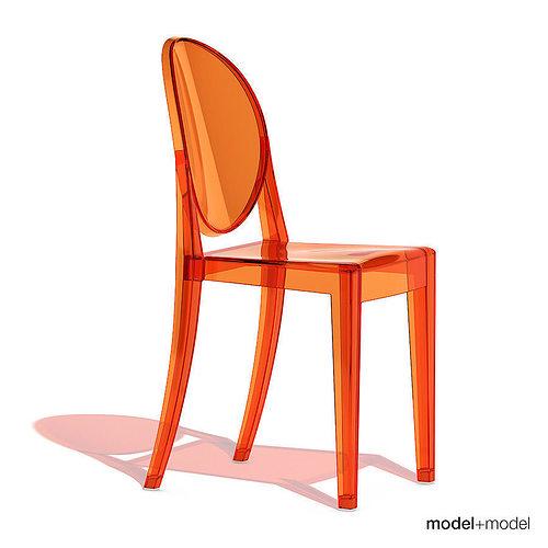 ... Kartell Victoria Ghost Chair 3d Model Max Obj 3ds Fbx Dxf Mat 3 ...
