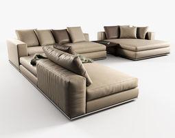 hamilton modular sofas 3d model