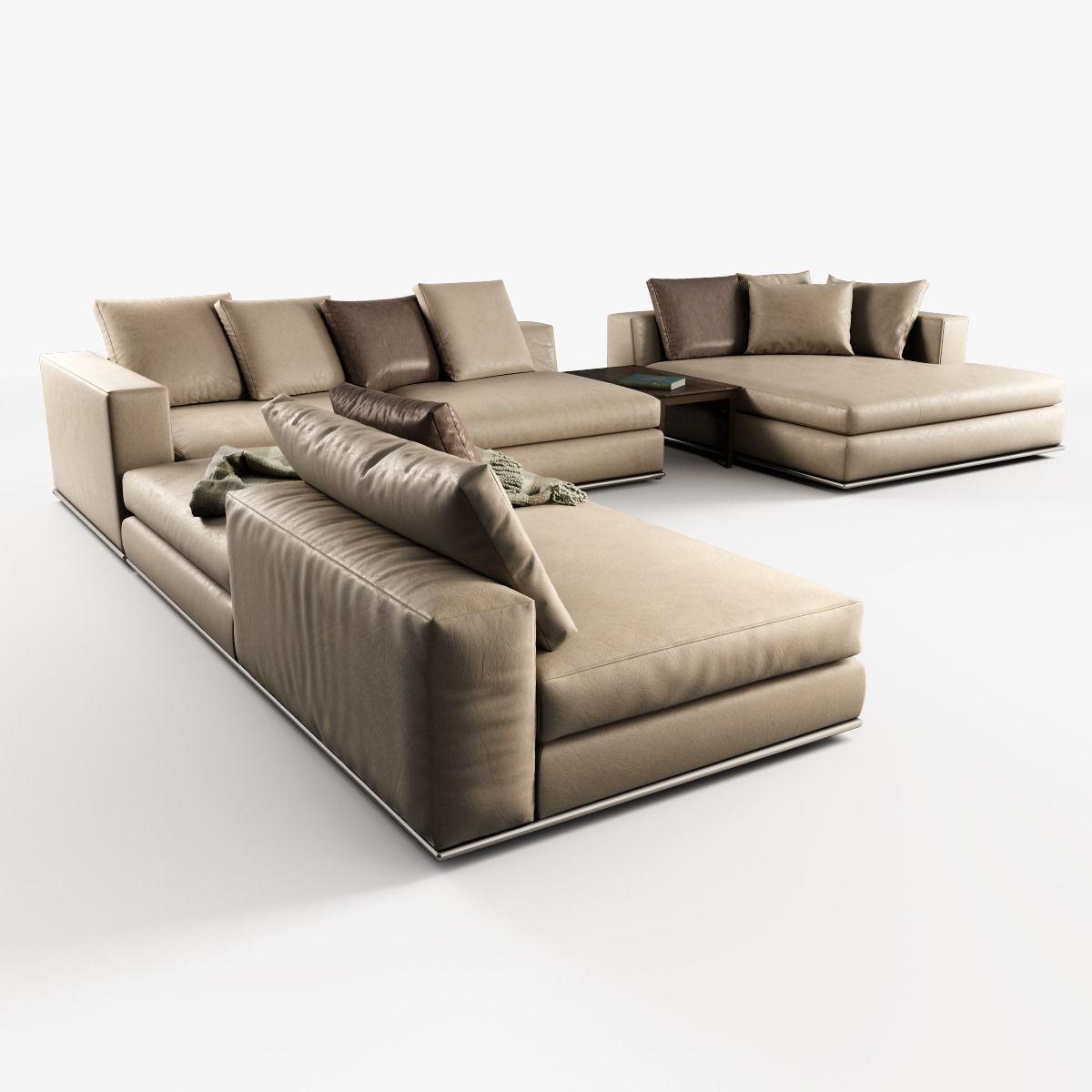 3D Hamilton Modular Sofas | CGTrader