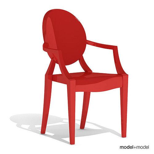 3D Kartell Louis Ghost armchair | CGTrader