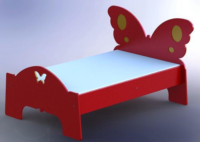 butterfly bed 3d model stl sldprt sldasm slddrw rfa rvt 1