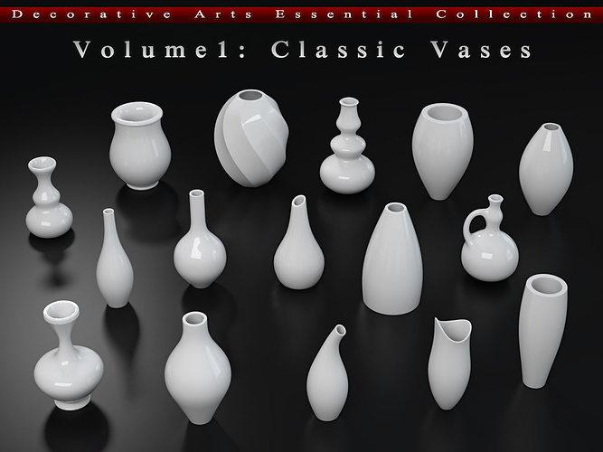 decorative arts essential  volume1  classic vases 3d model max obj mtl fbx ma mb 1