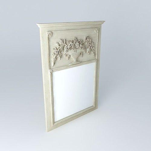 Mirror berlioz maisons du monde 3d model max obj 3ds fbx for Maison du monde job