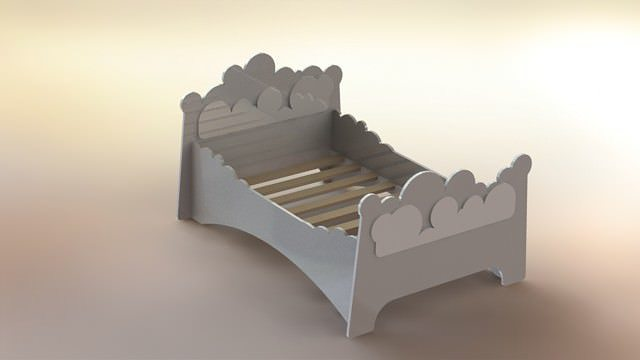 cloud bed 3d model rfa rvt 1