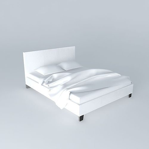 white bed zen houses the world 3d model max obj 3ds fbx stl dae 1