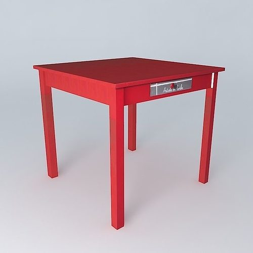 Genial Game Table SMALL WORKSHOP Houses The World 3D Model