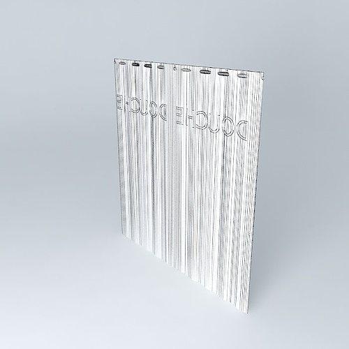 Translucent Shower Curtain 3d Model Max Obj Mtl 3ds Fbx Stl Dae 4