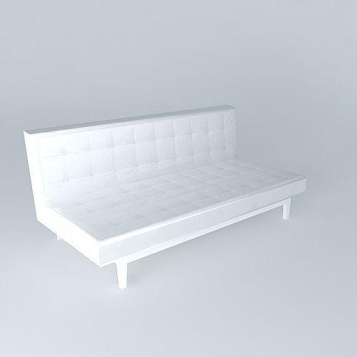 Studio sofa bed houses the world 3d model max obj 3ds fbx for Sofa bed 3d model