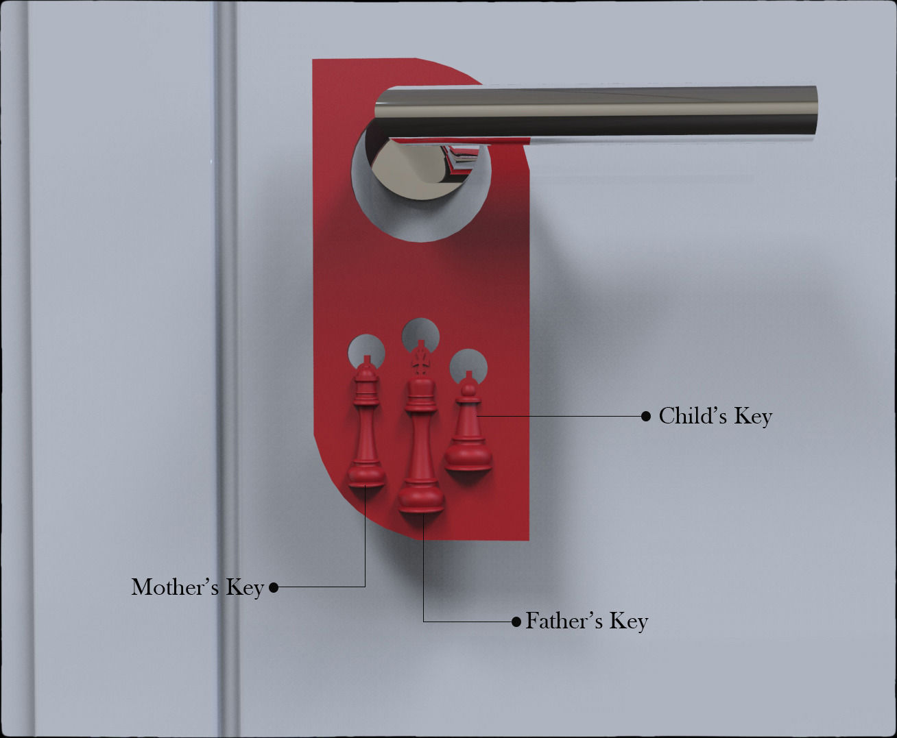 Door Hanger Chess Design Key Holder
