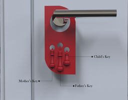 Door Hanger Chess Design Key Holder 3D printable model