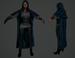 game-ready witch 3d model