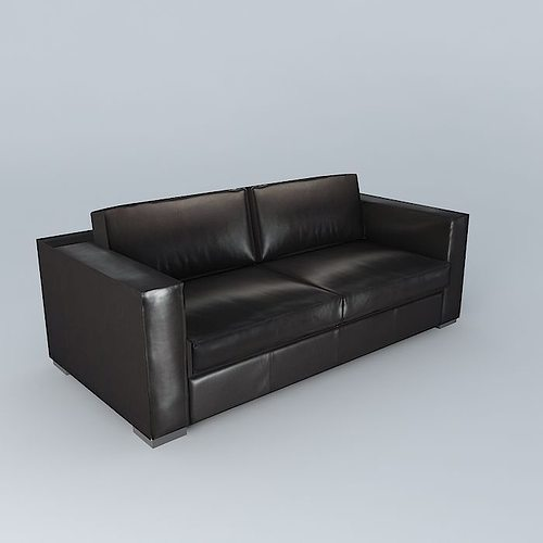 Berlin Brown Leather Sofa Houses The World 3d Model Max Obj 3ds Fbx Stl Dae