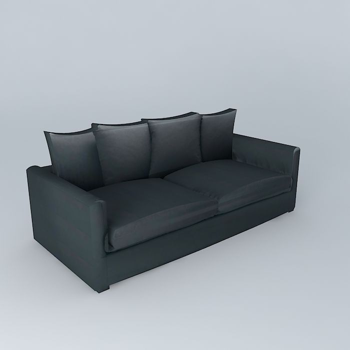 Slate gray sofa 3plc LEONARD houses the world