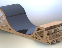 Skate board ramp 3D
