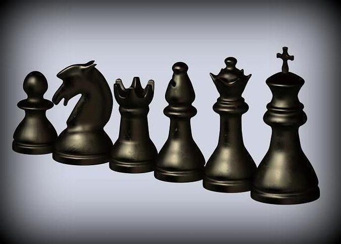 classic chess set 3d model stl 1