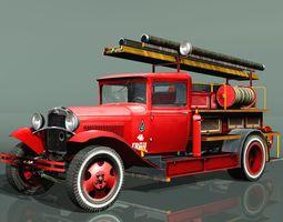 GAZ-AA Fire truck PMG-1 type 3D asset