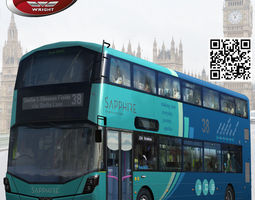 wrightbus streetdeck sapphire livery 3d model low-poly rigged max