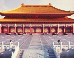 forbidden city hall of supreme harmony 3d model low-poly max obj