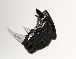 3d printable model rhino head