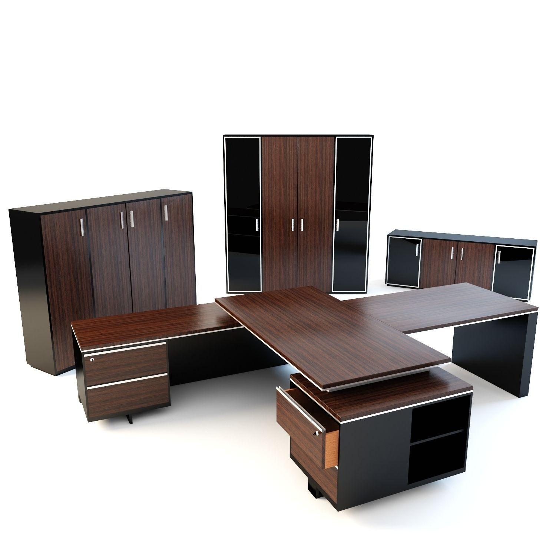 3d Model Office Furniture 1 Vr Ar Low Poly Max Obj 3ds