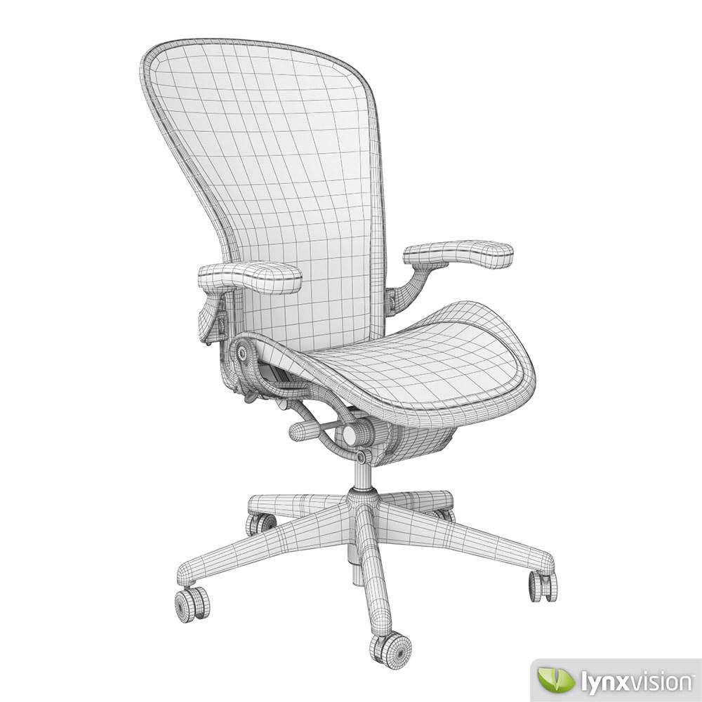 Aeron Chair By Herman Miller 3d Model Max Obj Fbx Mtl 4