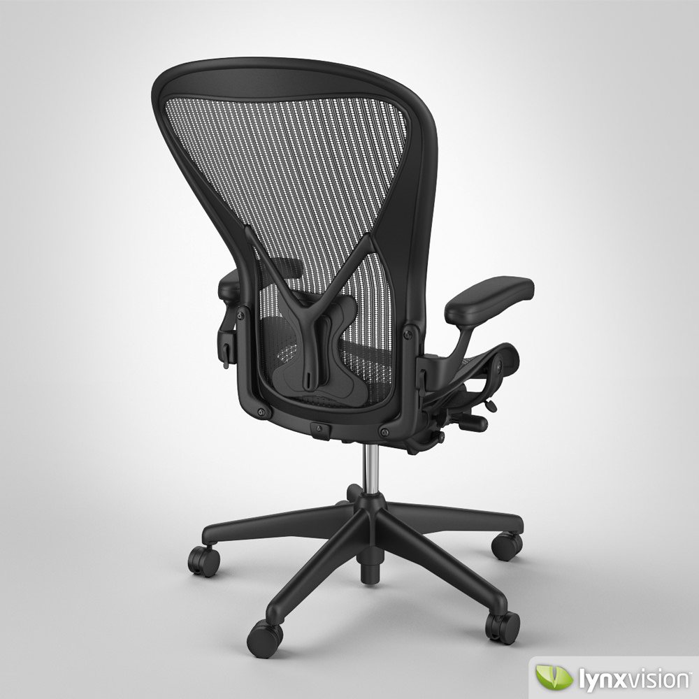 ... aeron chair by herman miller 3d model max obj fbx mtl 3 ...