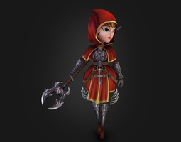 3D model Medieval chibi warrior