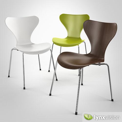 serie 7 chair by arne jacobsen 3d model max obj mtl fbx 1