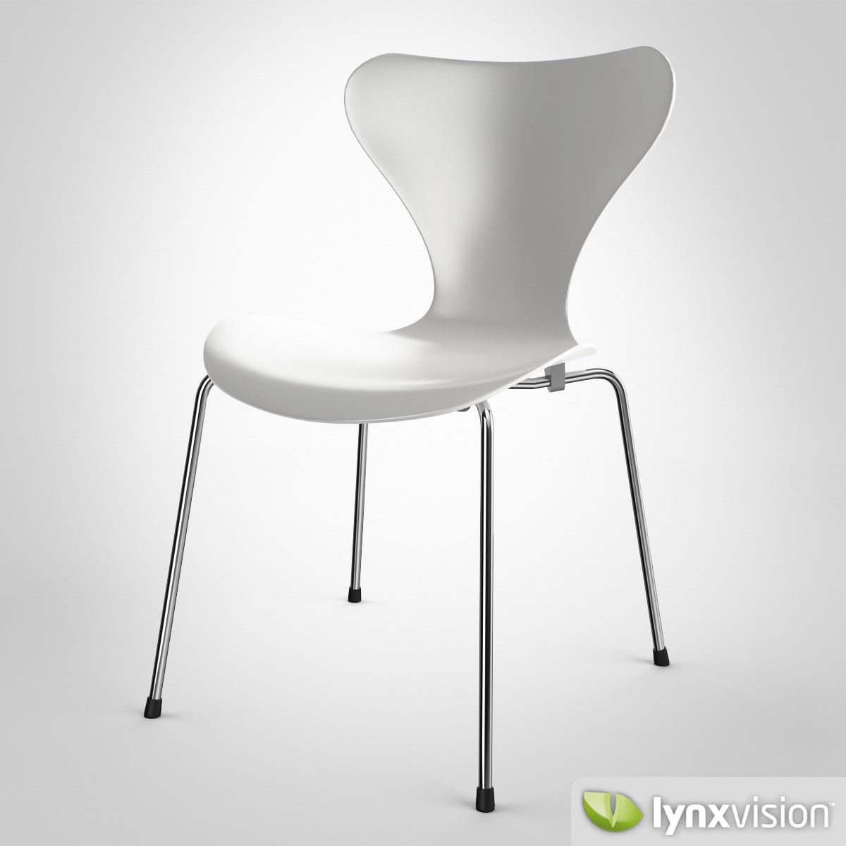serie 7 chair by arne jacobsen 3d model max obj fbx. Black Bedroom Furniture Sets. Home Design Ideas