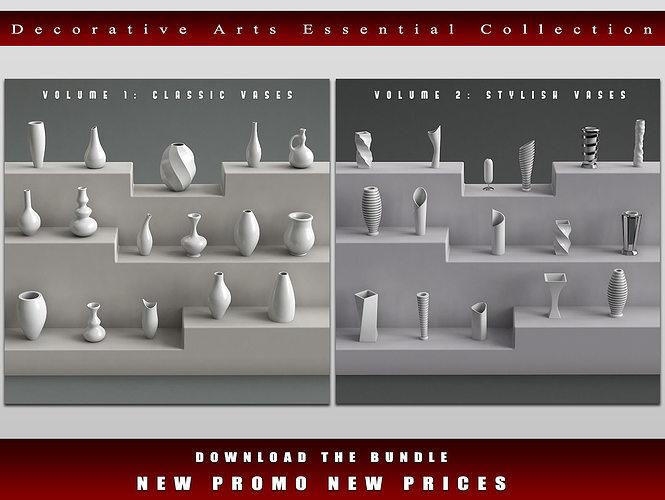 decorative arts essential bundle 3d model max obj fbx ma mb mtl 1