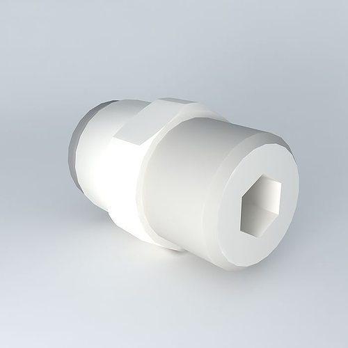 quilting straight male tapered diameter 6  r1  8 3d model max obj mtl 3ds fbx stl dae 1