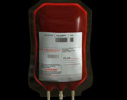 3d model blood bag medical
