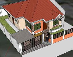 3D model Mediterranean Bungalow Villa 170 sq m