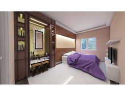Master bedroom layout 3D
