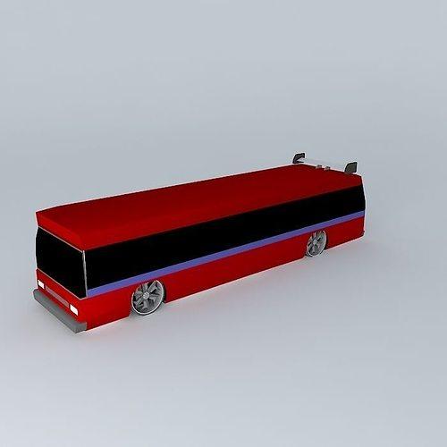 sweet party bus 3d model max obj 3ds fbx stl dae 1