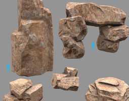3D model realtime Rock Set
