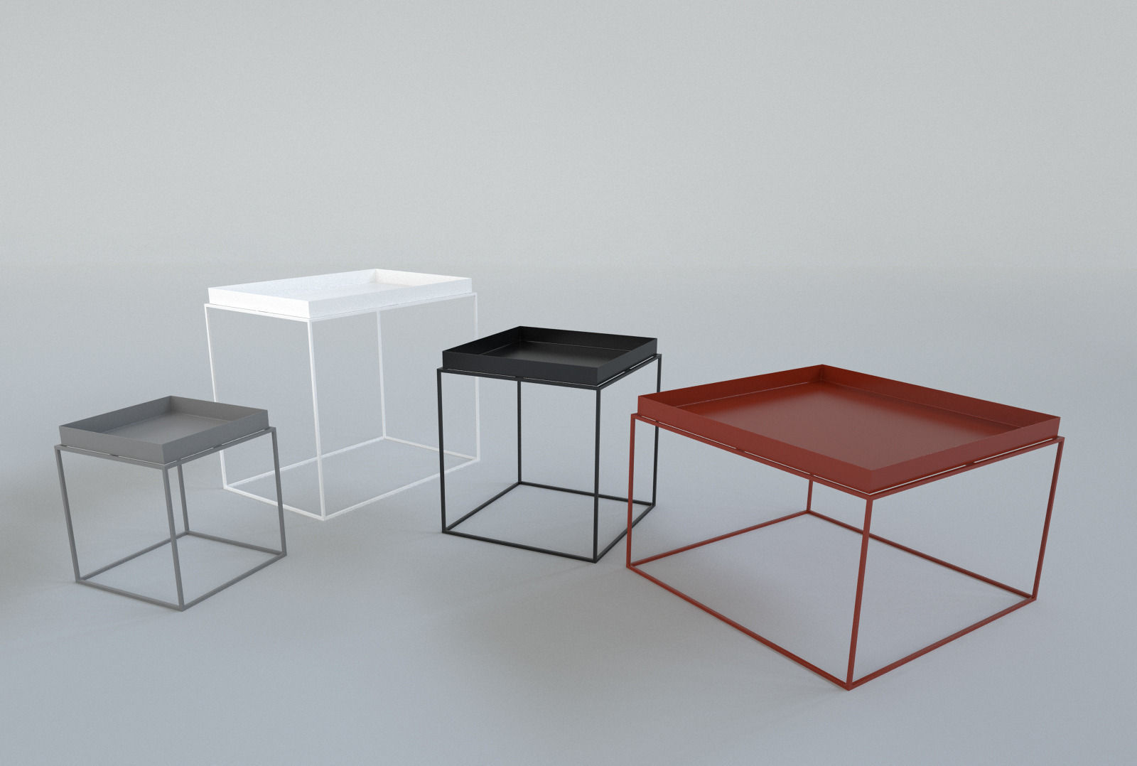 Beautiful Hay Tray Table 3D Model