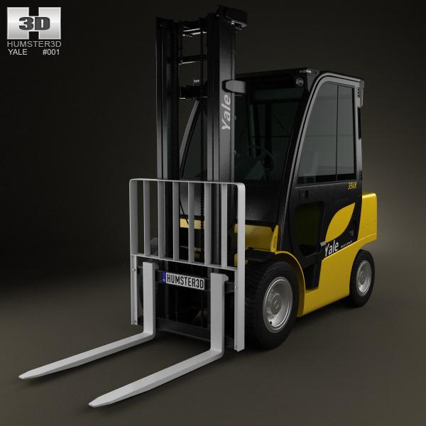 3D Model Yale GDP 35VX Forklift 2012