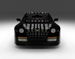 Porsche 944 turbo with interior 3D model