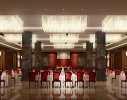 3D model photoreal lobby